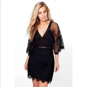 Plus size crochet cut out dress